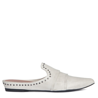 Women's White Flat Mules GP 5121918 WHZ