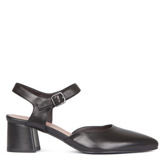Women's Block Heel Strap Courts GP 5151318 BLK