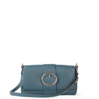 Turquoise Grained Leather Shoulder Bag Saint-Tropez YG 5152618 DGN