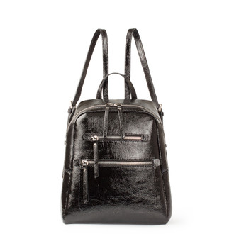 Black Patent Cracked Leather Soho Backpack YG 5320818 BLP