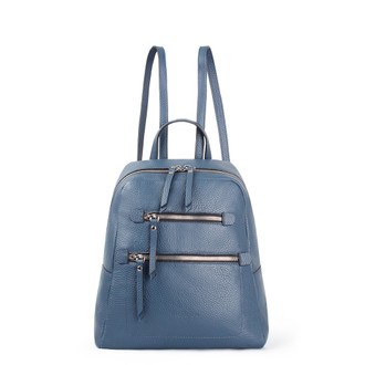 Blue Grained Leather Soho Backpack YG 5320818 BUZ