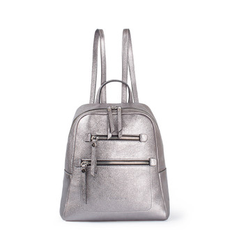 Metallic Leather Soho Backpack YG 5320818 SLZ