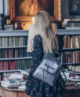 Silver Leather Backpack Soho YG 5320818 SLZ