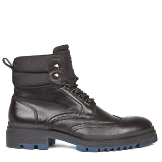 Men's Rubber Sole Lace-Up Boots GB 7322918 BLK