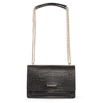Embossed Leather Chain Trim Shoulder Bag San Marino XT 5131018 VLC