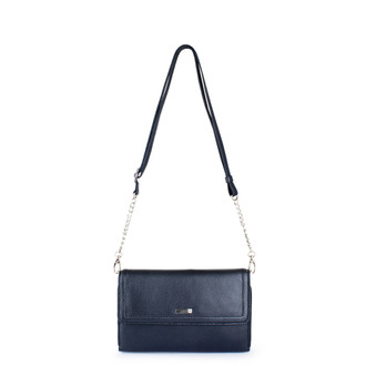 Graphite Leather Mini Bag Vienna YA 5120918 NVZ