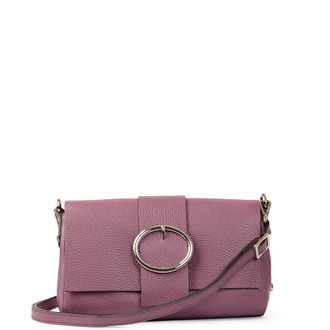 Lavender Grained Leather Shoulder Bag Saint-Tropez YG 5152618 VLT