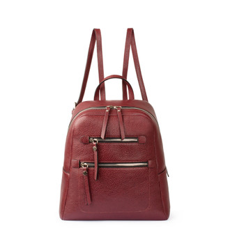 Dark Red Grained Leather Soho Backpack YG 5320818 BDR