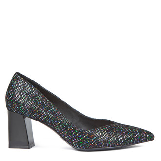 Women's Geometric Print Leather Courts GF 5267719 BLM