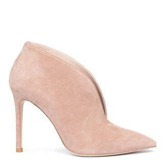 Women's Powder Rose Suede Stiletto Ankle Boots GJ 5299119 TPS