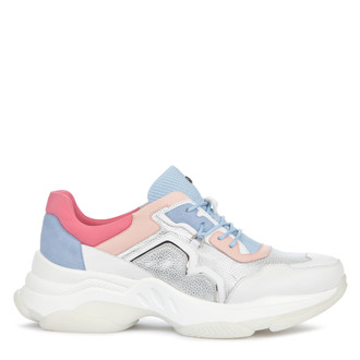 Women's Chunky Sole Pastel Leather Trainers GS 5224019 SLM