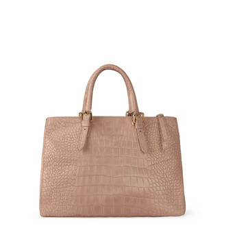 Embossed Leather Nude Bag Sienna YG 5330819 LLC