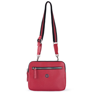 Red Grained Leather Belt Bag Riva YH 5120919 RDB