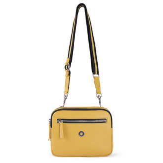 Grained Leather Belt Bag Riva in Yellow YH 5120919 YLB