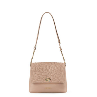 Rosewater Pink Leather Bag with Flower Embroidery YM 5220519 PNA