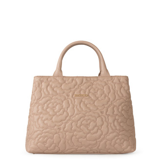 Peony Embroidered Grained Leather Bag Sofia YM 5350019 PNA