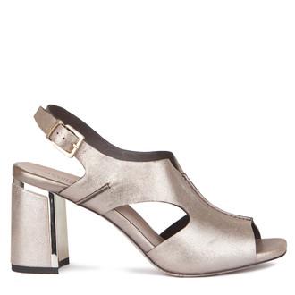 Women's Bronze Metallic Leather Sandals GD 5172219 LGZ