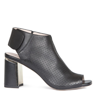 Women's Perforated Leather Peep-Toe Booties GD 5172919 BLI