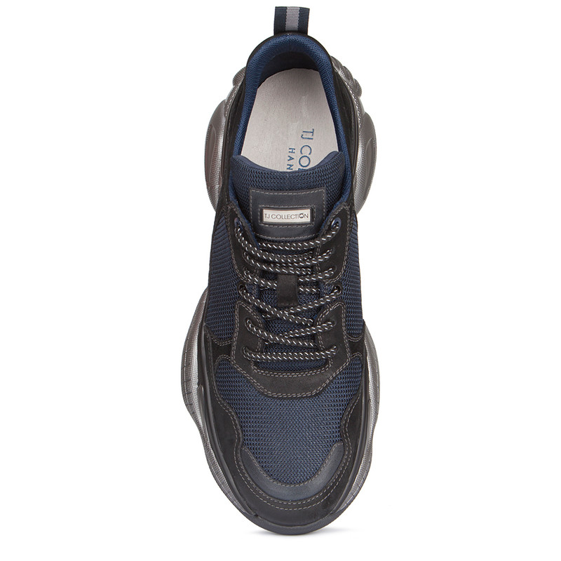Men's Trainers in Suede, Waxed Nubuck and Technical Fabric GL 7216039 BLU