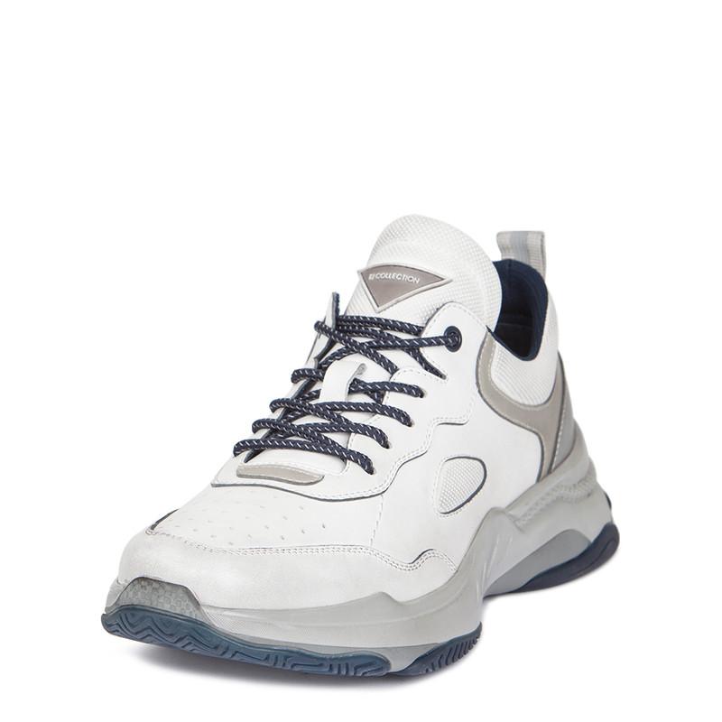Men's Urban White Leather Trainers GL 7220119 WHU