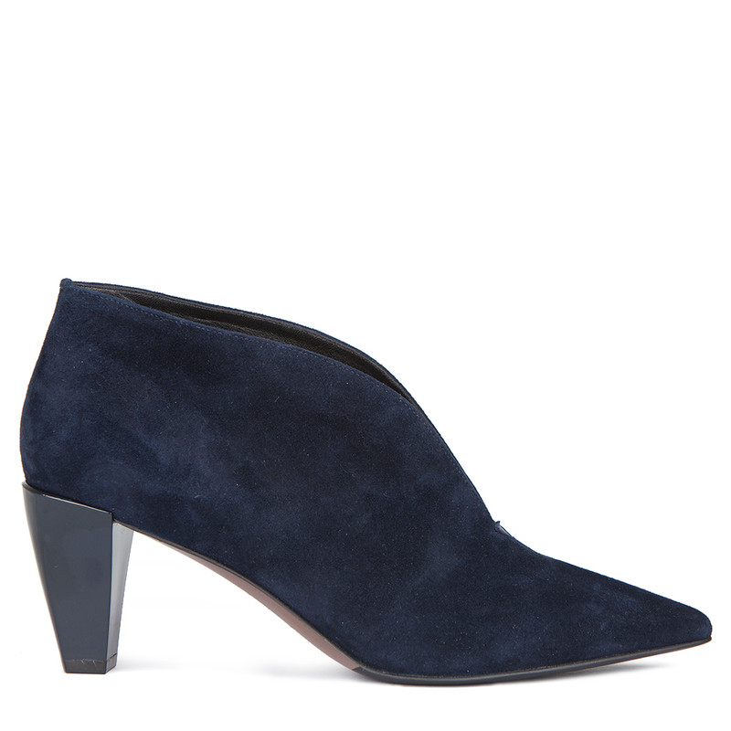 Women's Dark Blue Suede Ankle Boots GJ 5268819 NVS