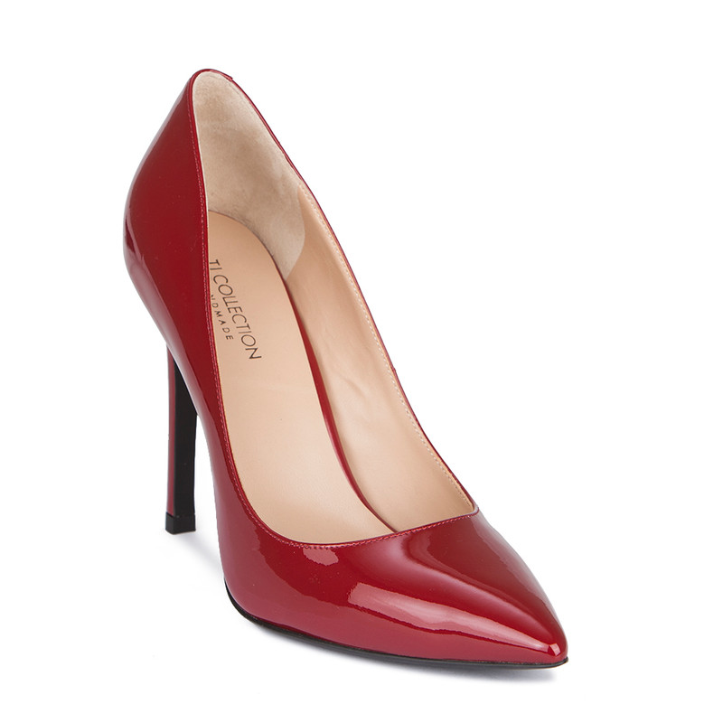 Women's Red Patent Leather Stiletto Heel Pumps GJ 5299019 RDP
