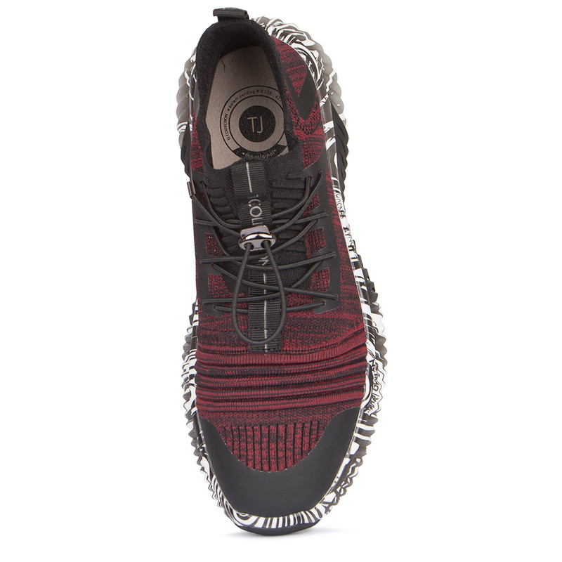 Women's Red and Black Freedom Sneakers GK 5204129 BDB