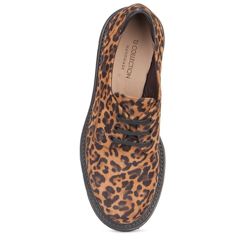 Women's Leopard Print Suede Derbies GP 5217919 LEO