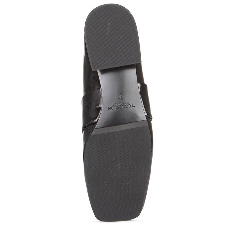 Women's Transforming Black Patent Leather Slides GR 5228019 BLP
