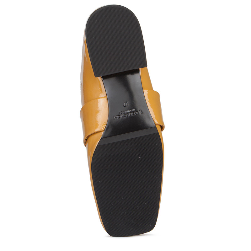 Women's Transforming Yellow Patent Leather Slides GR 5228019 YLP