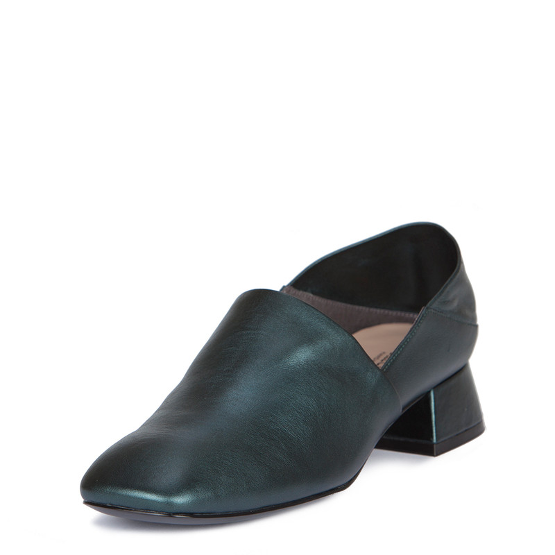 Women's Transforming Emerald Leather Slides GR 5231019 GNZ