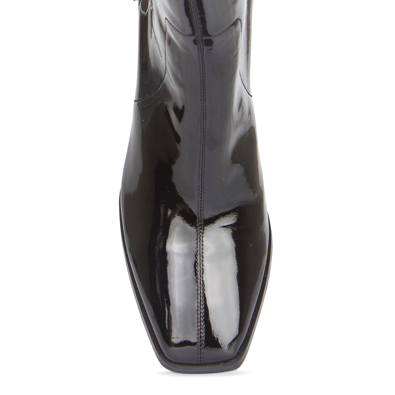 Women's Patent Leather Squared Toe Ankle Boots GR 5368519 BLP