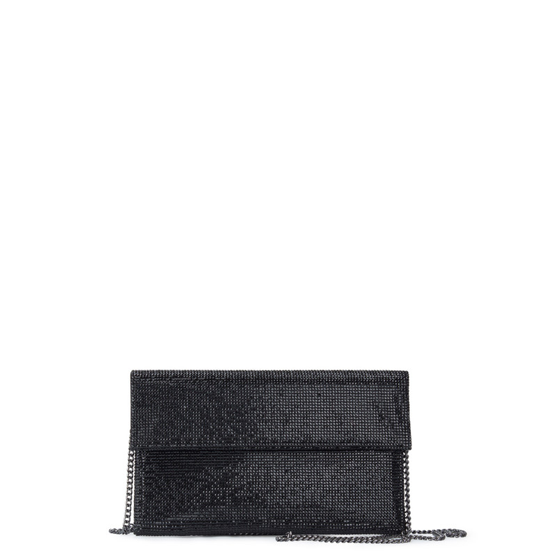 Crystal-Embellished Black Clutch Somerset  XB 5100829 BLZ