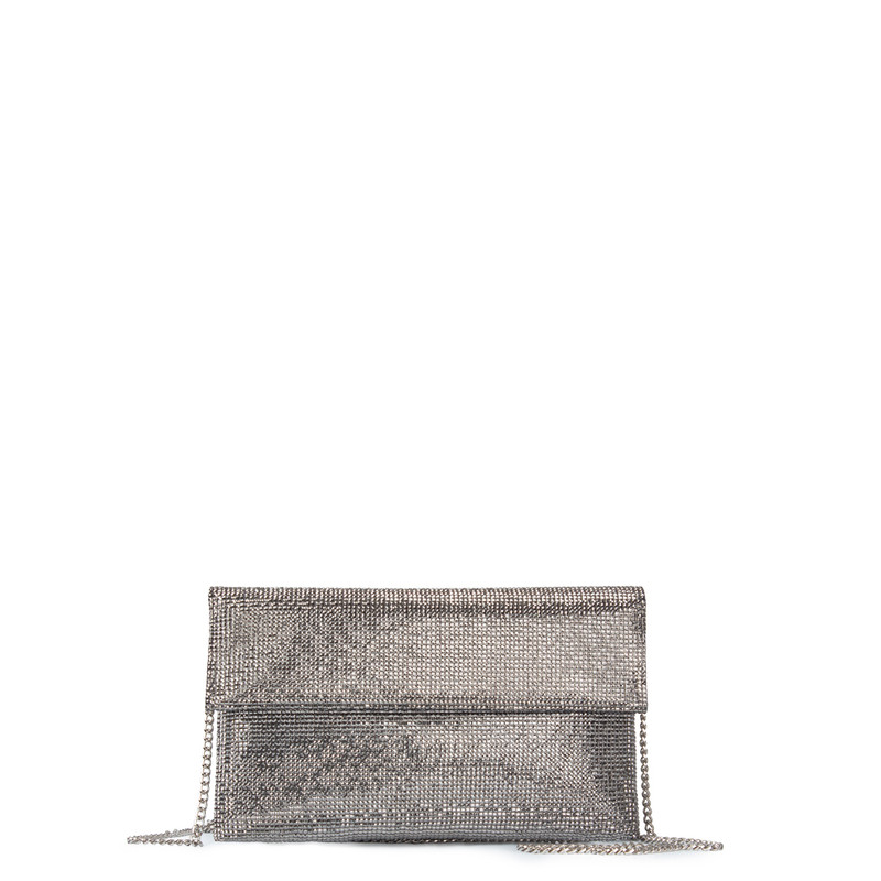 Silver Crystal-Embellished Clutch Somerset  XB 5100829 PLZ