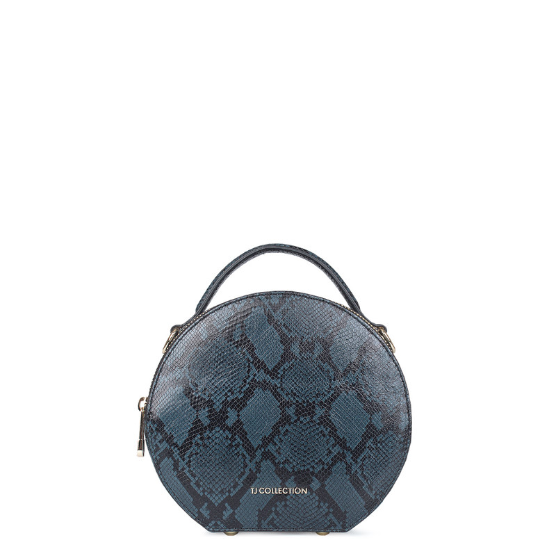Python Print Leather Bag Positano XN 5160019 BLU