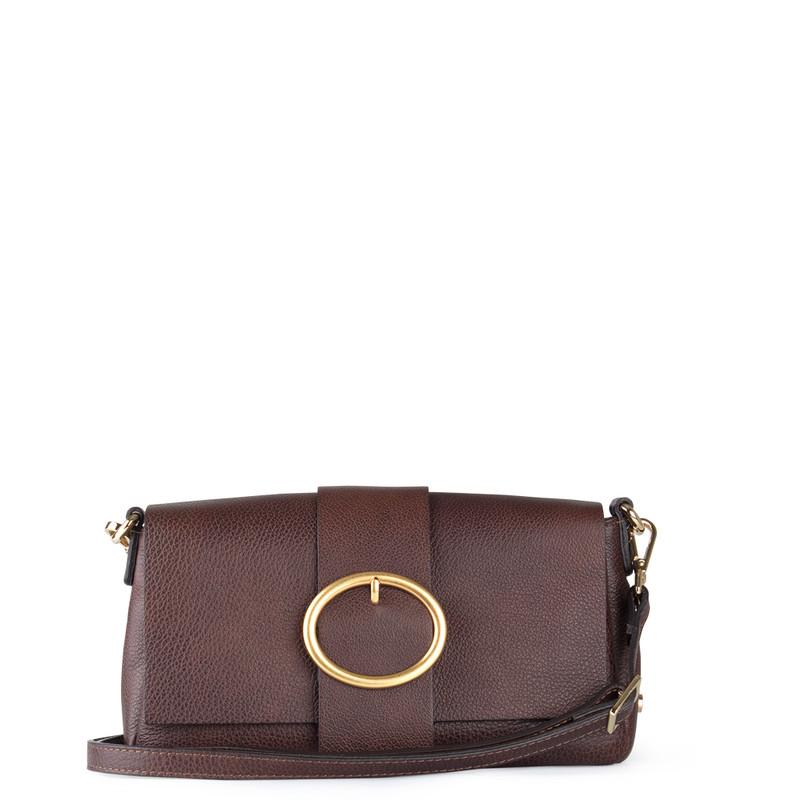 Brown Leather Clutch Saint-Tropez YG 5152619 DBR