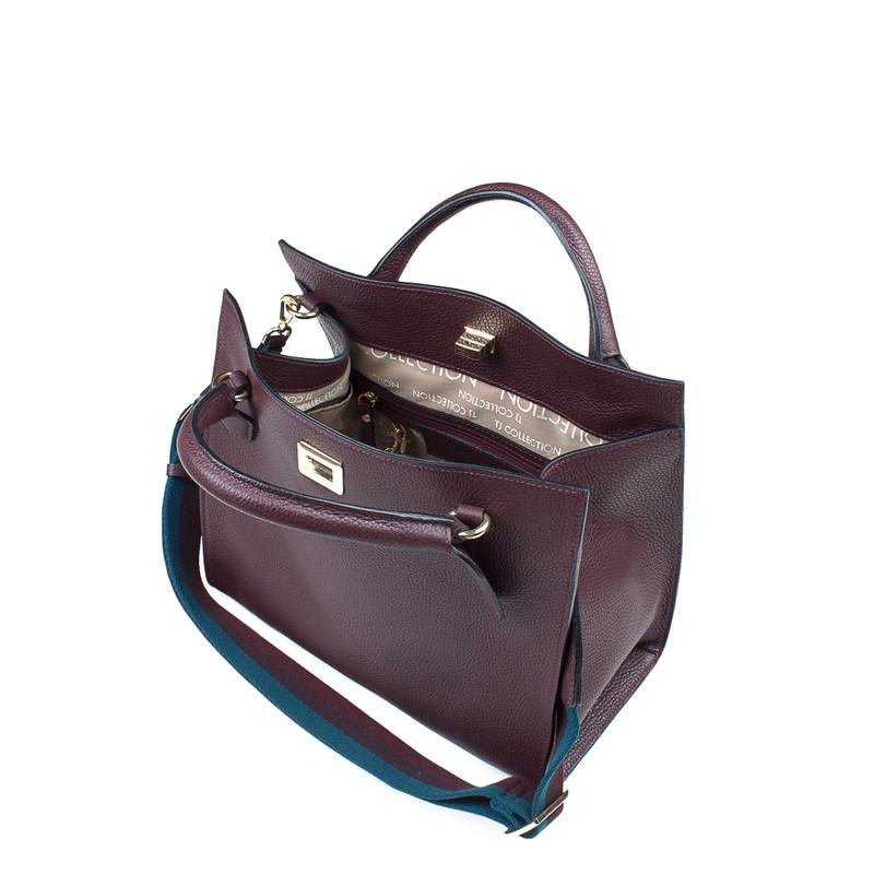 Burgundy Leather Naples Bag YG 5340819 BDA