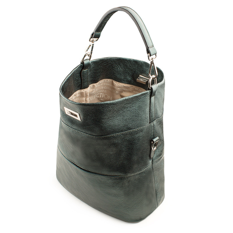 Emerald Leather Convertible Bag Bologna YG 5355819 GNZ