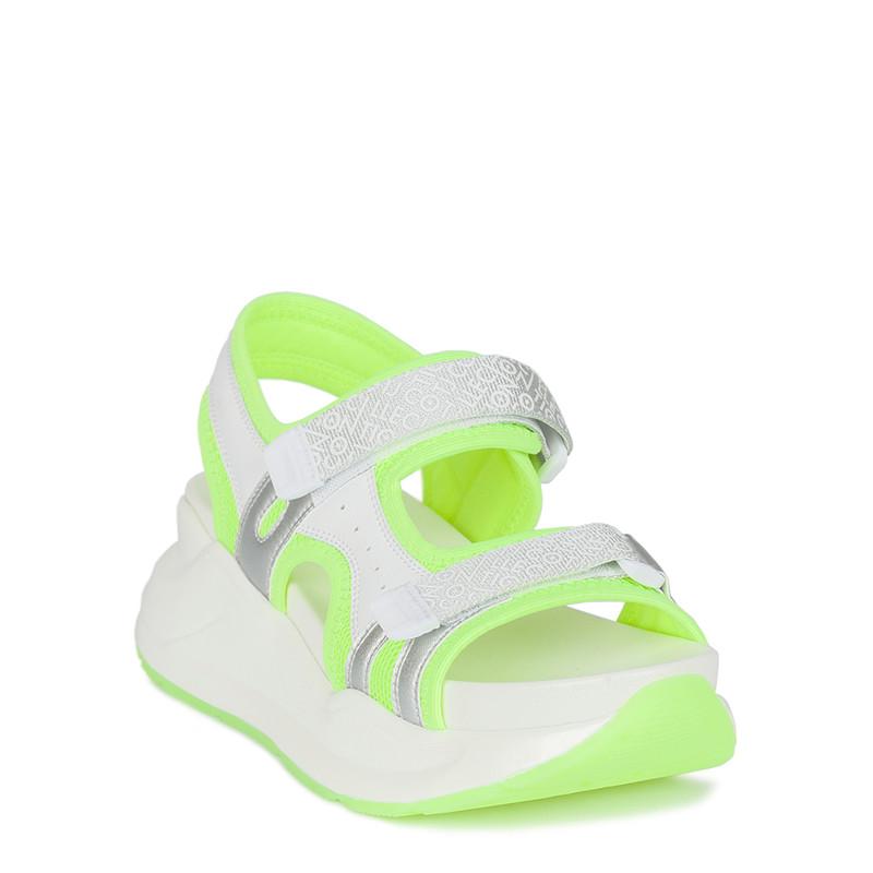Women's Neon Green Velcro Strap Sandals GF 5120220 WHY