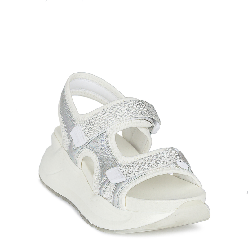 Women's White Velcro Strap Sandals GF 5120220 WHZ