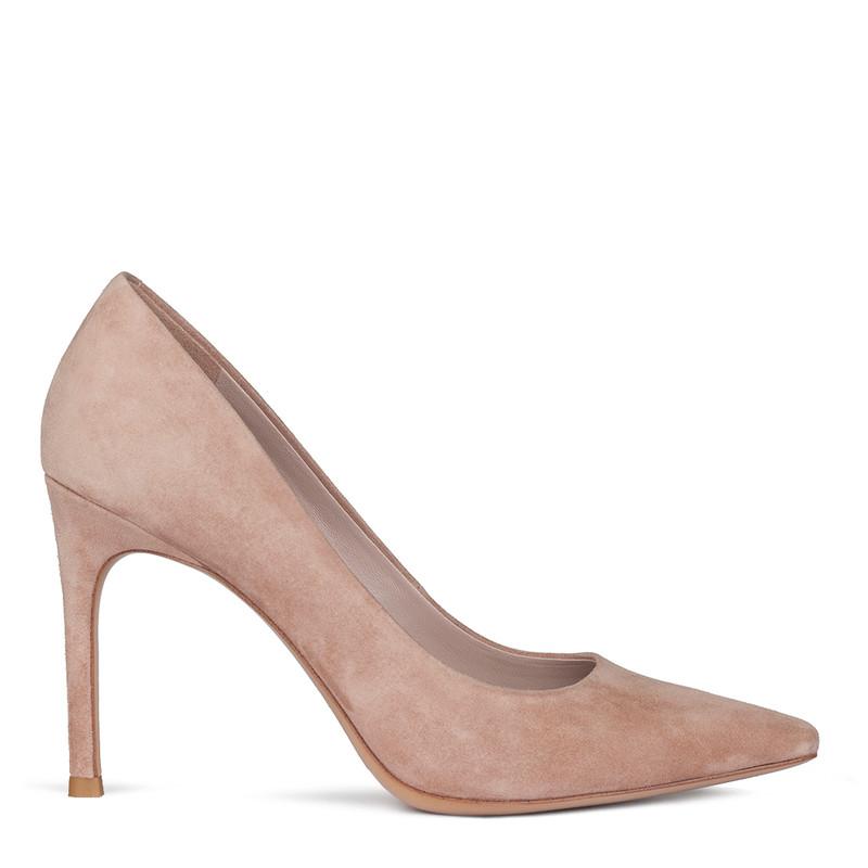 Women's Powder Pink Suede Pumps GF 5288010 TPS