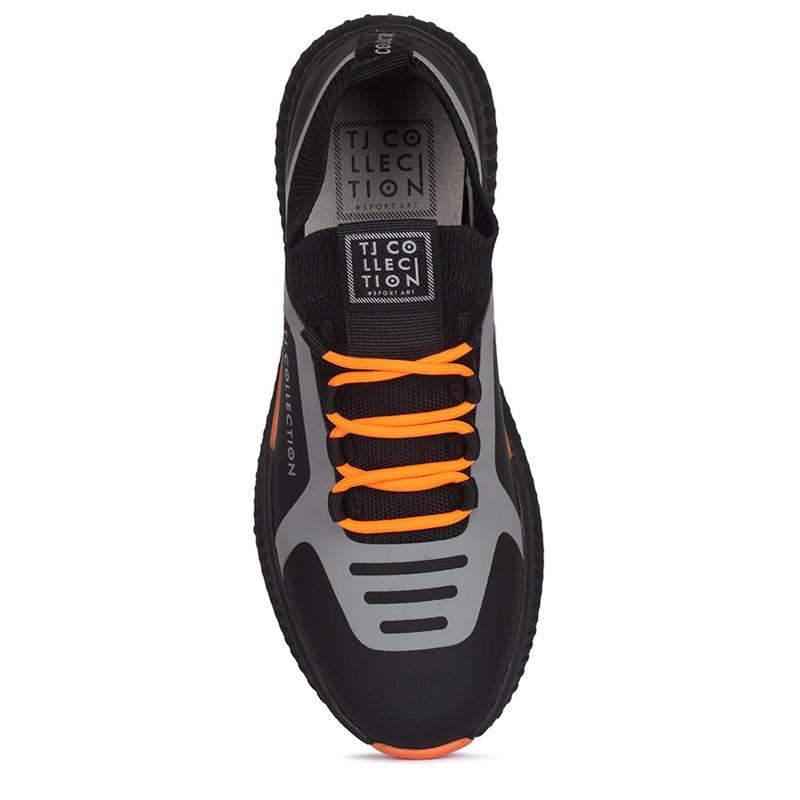 Women's Vibrant Black & Orange Pluto Sneakers GK 5206920 BLO