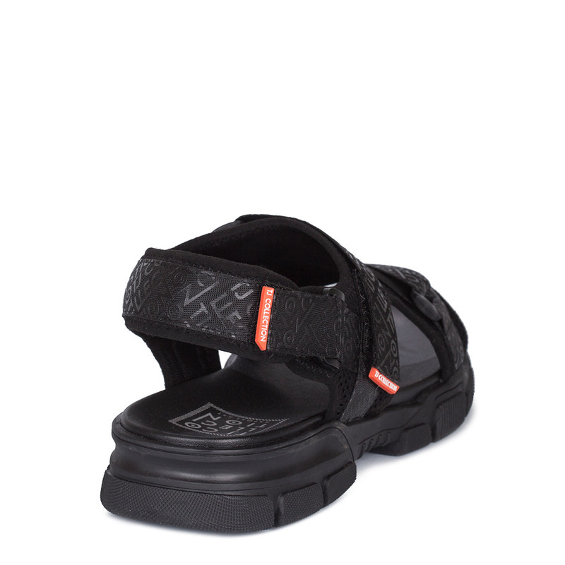 Men's Black Velcro Strap Sandals GK 7114120 BLK