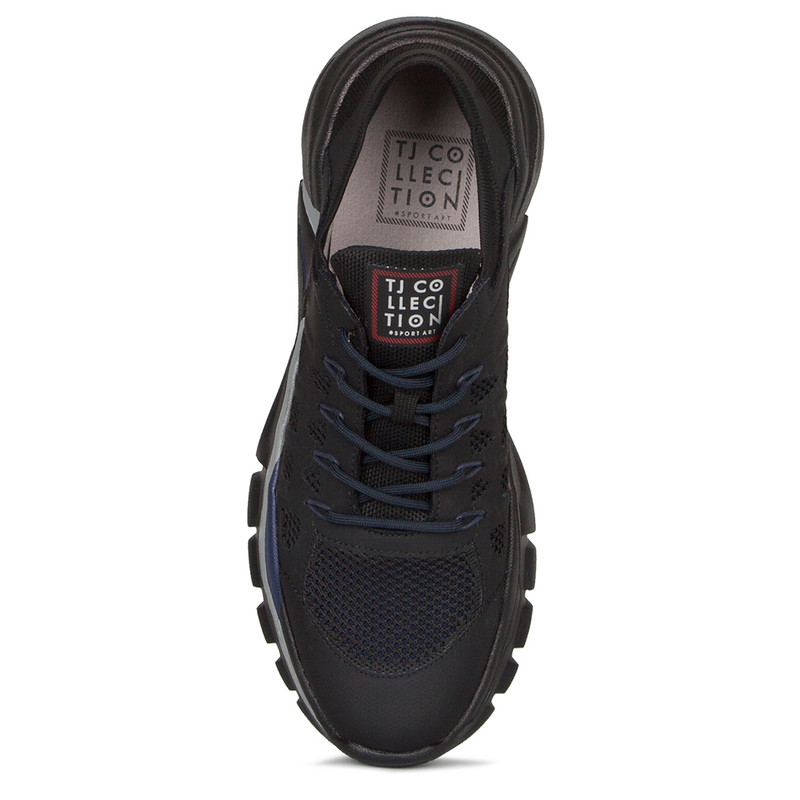 Unisex Black and Blue Lightweight Sneakers GK 7205020 BLU