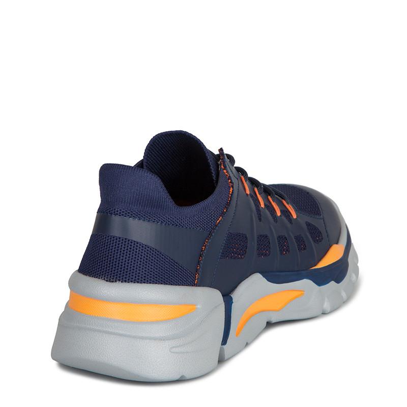 Men's Blue and Orange Lightweight Sneakers GK 7205020 NVO