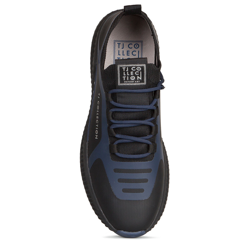 Men's Sleek Black & Blue Pluto Sneakers GK 7206920 BLU