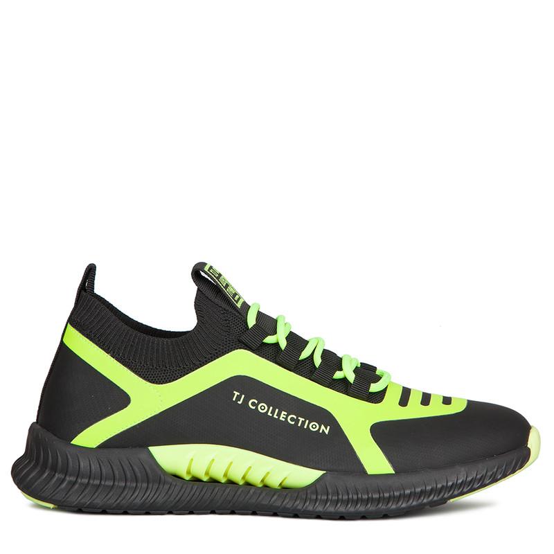 Men's Pluto Sneakers with Neon Green