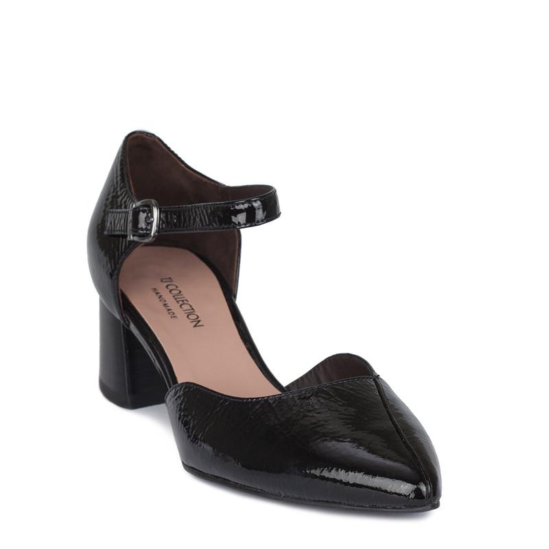 Women's Black Patent Leather Courts GP 5151910 BLP