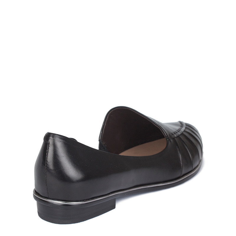 Women's Black Glove Leather Slides GP 5202010 BLI