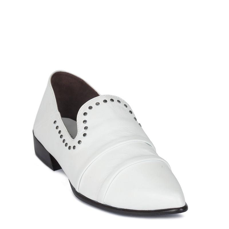 Women's White Foldable Heels Slip-Ons GP 5221810 WHZ